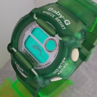 ベビージー(Baby-G)のBaby-G 370 イルクジ カスタム染色グリーン💚(腕時計)