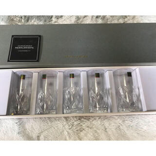 hoya グラス ロングコースター付き ビールグラス5個セット 新品未使用(グラス/カップ)