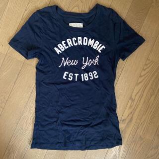アバクロンビーアンドフィッチ(Abercrombie&Fitch)のアバクロ Tシャツ レディース ネイビー  ロゴTシャツ(Tシャツ(半袖/袖なし))