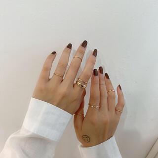 【No.129】シルバー 指輪 リング 7点セット 韓国 ファッション 結婚式(リング(指輪))