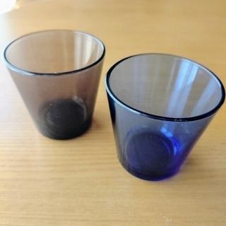 イッタラ(iittala)の廃盤カラー カルティオ  タンブラー サンド ウルトラマリンブルー イッタラ(グラス/カップ)