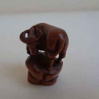 木彫 ウシ(彫刻/オブジェ)