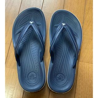 クロックス(crocs)の【美品】crocs クロックス ネイビー サンダル (サンダル)