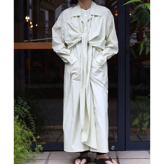 ジョンリンクス(jonnlynx)のfumika_uchida カシュクール シャツドレス ワンピース フミカウチダ(ロングワンピース/マキシワンピース)