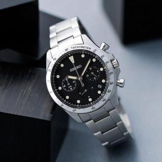 セイコー(SEIKO)のSEIKO 別注セイコー*ナノユニバース クオーツクロノグラフブラックブラック(腕時計(アナログ))