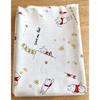 クマノプーサン(くまのプーさん)のディズニー くまのプーさん 11号帆布生地 巾110cm×100cm(生地/糸)