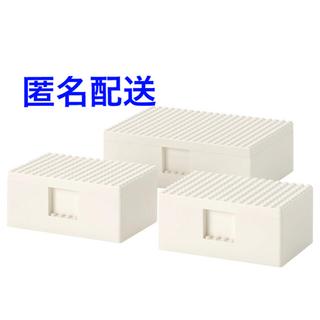 イケア(IKEA)のIKEA BYGGLEK ビッグレク ふた付き 3点セット(積み木/ブロック)