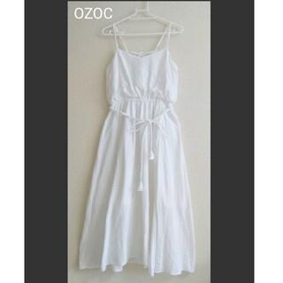 オゾック(OZOC)のOZOC ホワイトロングワンピース(ロングワンピース/マキシワンピース)