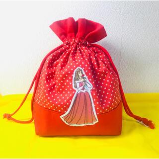 <現品>【特価】オーロラ姫刺繍★お弁当袋★ディズニー★ハンドメイド♪♪(バッグ/レッスンバッグ)