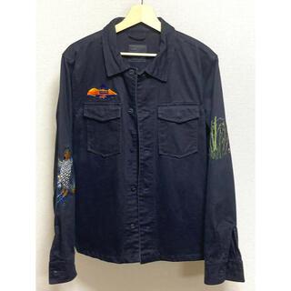 ZARA - 美品 Lサイズ ZARA 刺繍 ジャケット