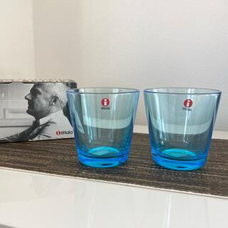 イッタラ(iittala)のイッタラ カルティオ グラス ライトブルー 2019年廃盤品(グラス/カップ)