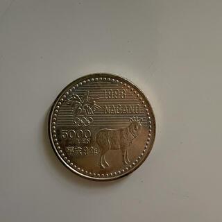 記念硬貨 5000円玉 平成9年 長野オリンピック(その他)
