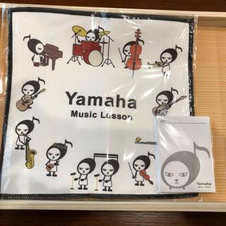 ヤマハ(ヤマハ)のヤマハミュージック おんぷーマイクロファイバークロスとメモ帳(ハンカチ)