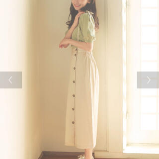 フラワー(flower)の肩ひも付き前ボタンスカート ♡ haluhiroine 【値下げ】(ロングスカート)