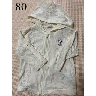 スヌーピー(SNOOPY)のスヌーピー 薄手パーカー 80(Tシャツ)