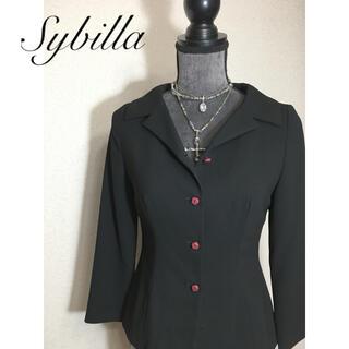 シビラ(Sybilla)の試着程度❣️シビラ ブラックジャケット (テーラードジャケット)