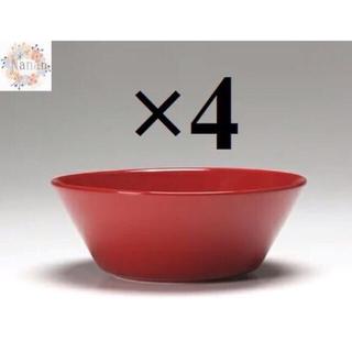 イッタラ(iittala)の【新品未使用品】イッタラ ティーマ レッド15cボウル4枚セット(食器)