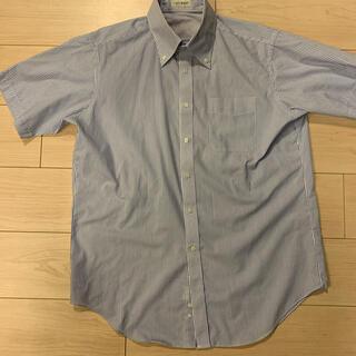 アオキ(AOKI)のアオキ インティメージ ブルーストライプ 半袖ドレスシャツ LL(シャツ)