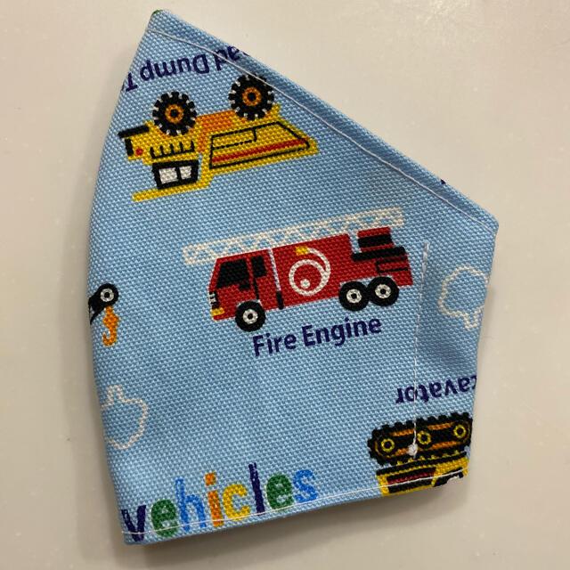 はたらくくるま 消防車 インナーマスク キッズ ハンドメイドのキッズ/ベビー(外出用品)の商品写真