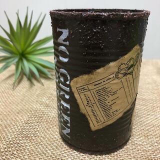 リメイク缶 (ブラウン、ステンシル&ラベル)(その他)