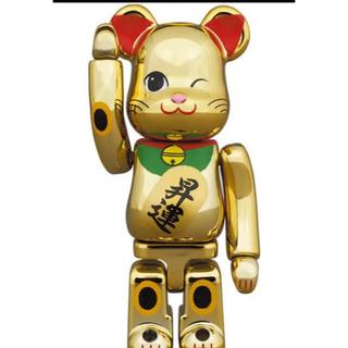 BE@RBRICK ベアブリック 招き猫 昇運 弐 金メッキ 100%(その他)