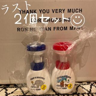 ロンハーマン(Ron Herman)の新品 ビオレu ロンハーマン コラボ 2個セット 赤 青 ハンドソープ 空容器(容器)