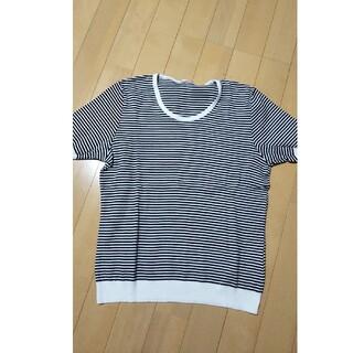 ルクールブラン(le.coeur blanc)のルクールブラン 半袖 綿ニット Tシャツ ボーダー(Tシャツ(半袖/袖なし))