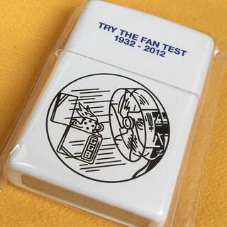 ジッポー(ZIPPO)のZIPPO 耐風テスト レトロ広告図案 ホワイト 新品未使用(タバコグッズ)