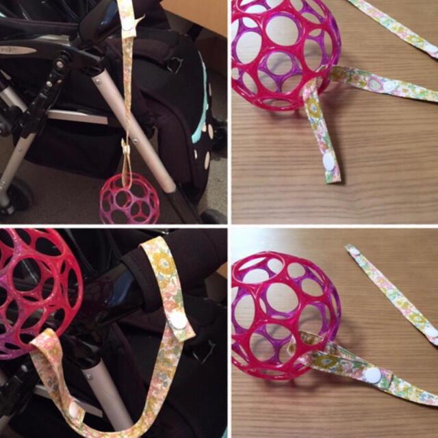 ハンドメイド  おもちゃホルダー ハンドメイドのキッズ/ベビー(外出用品)の商品写真
