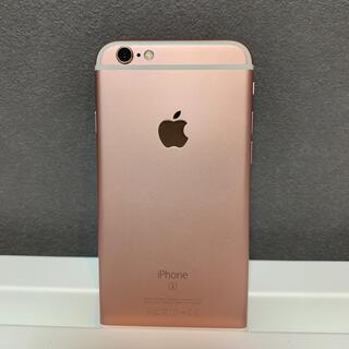 アイフォーン(iPhone)の【残量100%】iPhone6s au 16GB ローズゴールド(スマートフォン本体)