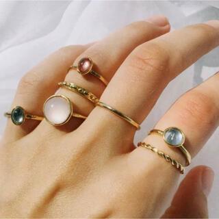 アガット(agete)の新品 リングセット シルバー ゴールド ストーン 11号 12号 13号(リング(指輪))