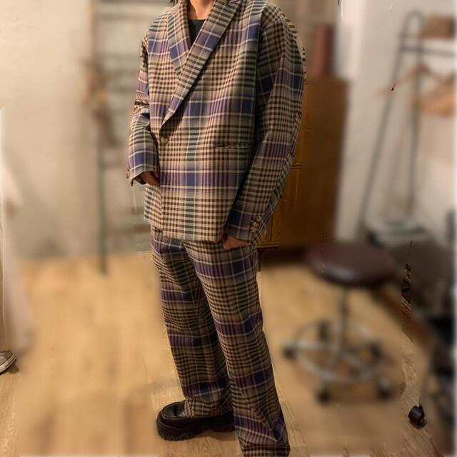Jieda(ジエダ)のjieda チェックセットアップ 2020aw メンズのスーツ(セットアップ)の商品写真