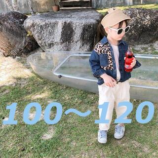 こども ビームス - こども服  インポート デニムシャツ 配色 ヒョウ柄 100 120