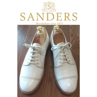 サンダース(SANDERS)の美品‼️ SANDERS サンダース ストレートチップ 白 サイズ7 イギリス(ドレス/ビジネス)