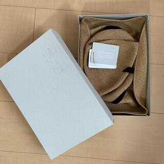 ネストローブ(nest Robe)のBOXED HAT 11cm brim grosgrain ribbon (麦わら帽子/ストローハット)
