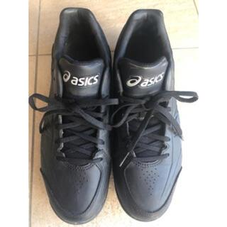 asics - アシックス☆野球スパイク 黒24cm!少年野球 軟式・硬式野球☆美品