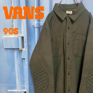 ヴァンズ(VANS)の90s VANS シャツジャケット キルティング ワンポイント エルボパッチ(シャツ)