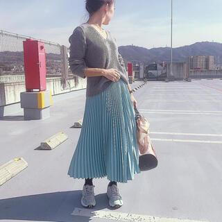 ドゥロワー(Drawer)のゆずりん様専用cen.プリーツスカート ミント(ロングスカート)