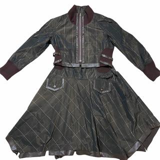イッセイミヤケ(ISSEY MIYAKE)の【最高級】E-CLAT 大きいサイズe-clat  エイココンドウ 42スカート(ロングワンピース/マキシワンピース)