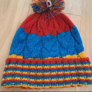 キッズ カラフルニット帽(帽子)