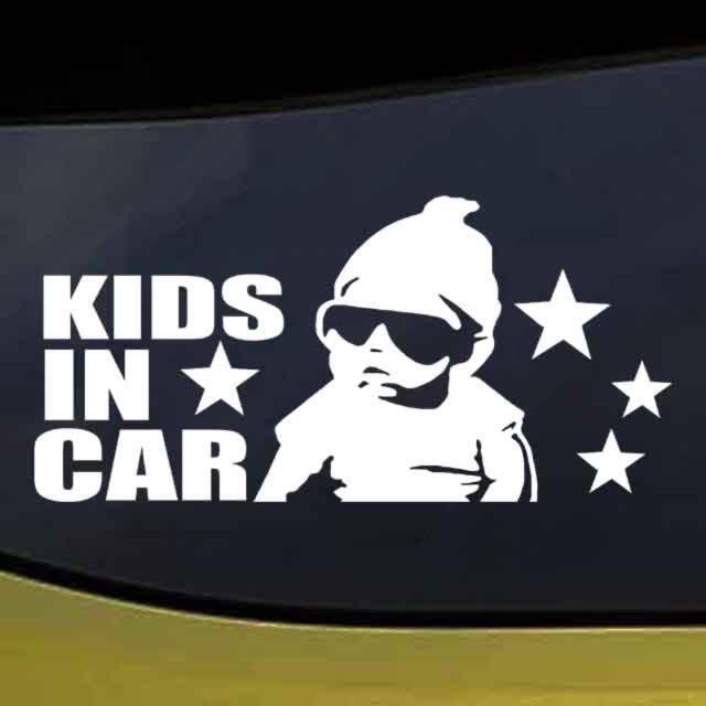 キッズインカー/車用ステッカー 星柄赤ちゃんデザイン ハンドメイドのキッズ/ベビー(外出用品)の商品写真