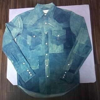 デニムアンドサプライラルフローレン(Denim & Supply Ralph Lauren)の美品レアDenim&Supply騙し絵プリントシャツ(シャツ)
