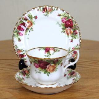 ロイヤルアルバート(ROYAL ALBERT)のロイヤルアルバート  トリオ コーヒーカップ ティーカップ ヴィンテージ (食器)