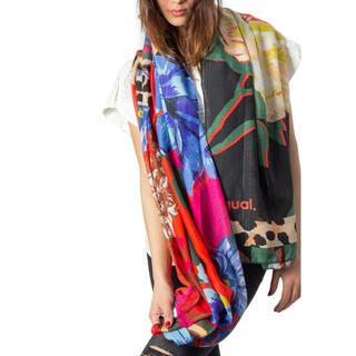 デシグアル(DESIGUAL)の新品✨タグ付き♪ デシグアル ストール スカーフ レッド系  大特価‼️ (バンダナ/スカーフ)