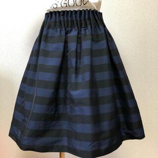 マッキントッシュフィロソフィー(MACKINTOSH PHILOSOPHY)のウェストギャザースカート(ひざ丈スカート)