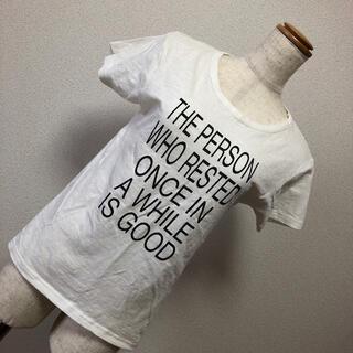 フレームワーク(FRAMeWORK)のホワイト ロゴTシャツ(Tシャツ(半袖/袖なし))