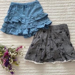 サンカンシオン(3can4on)のキュロット スカート インナー付き サイズ100(パンツ/スパッツ)