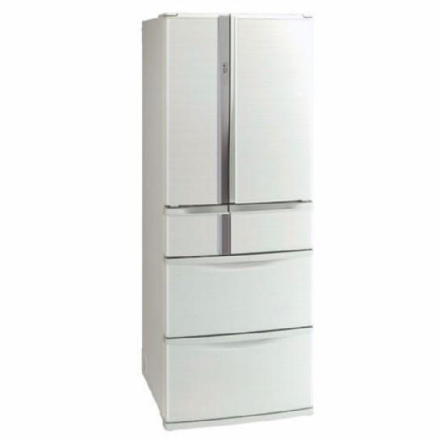 三菱(ミツビシ)の冷蔵庫 フレンチドア 三菱 電気代安いタイプ ホワイト スマホ/家電/カメラの生活家電(冷蔵庫)の商品写真