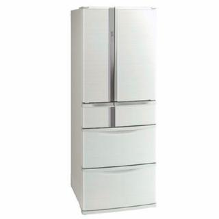 三菱 - 冷蔵庫 フレンチドア 三菱 電気代安いタイプ ホワイト