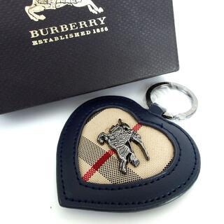 BURBERRY - BURBERRY バーバリー チェック ホース ハート キーホルダー 7-502